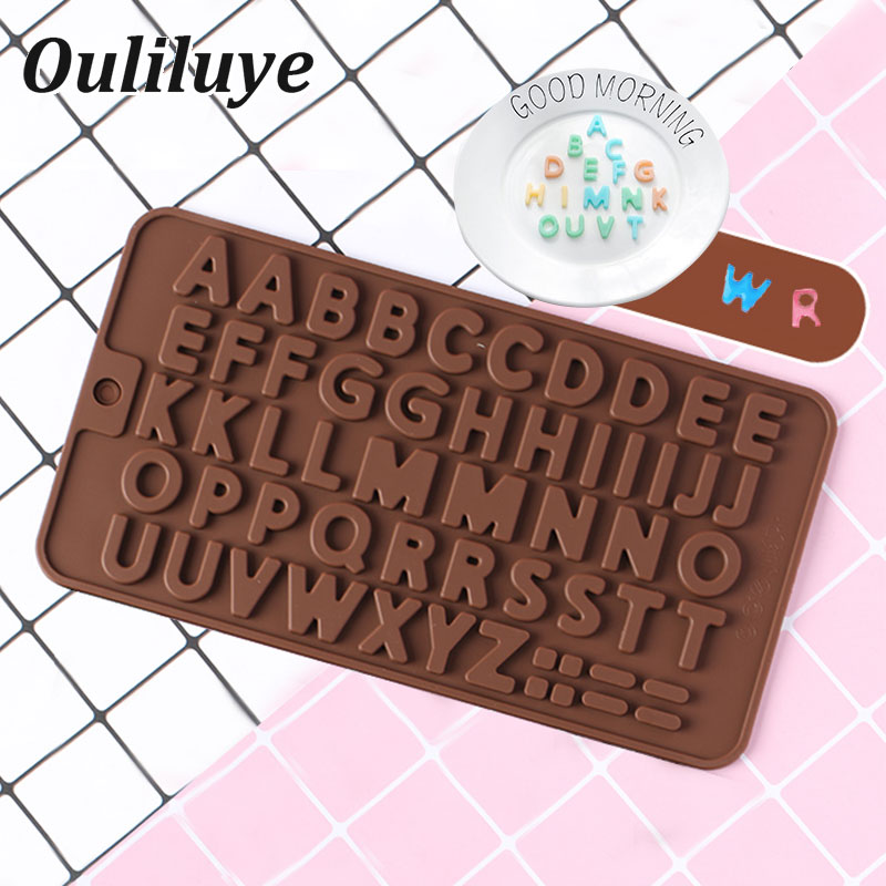 Cake Alphabet Silicone Mold Decorating Tools DIY Chocolate Candy Forms Christmas Birthday Wedding Cake Confectionery Accessories