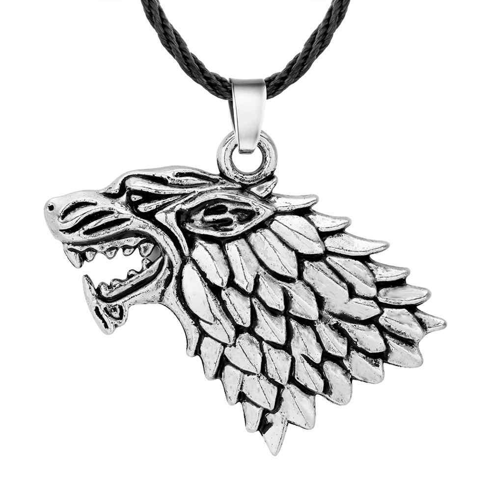Qiamni Pria Viking Serigala Cross Kapak Bintang Amulet Liontin Kalung Slavia Nordic Pagan Jimat Perhiasan Punk Aksesoris Choker Hadiah