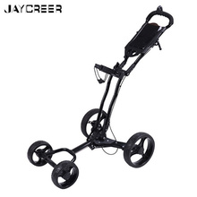 JayCreer 4 Wheels Portable Folding Golf Push Pull Carts