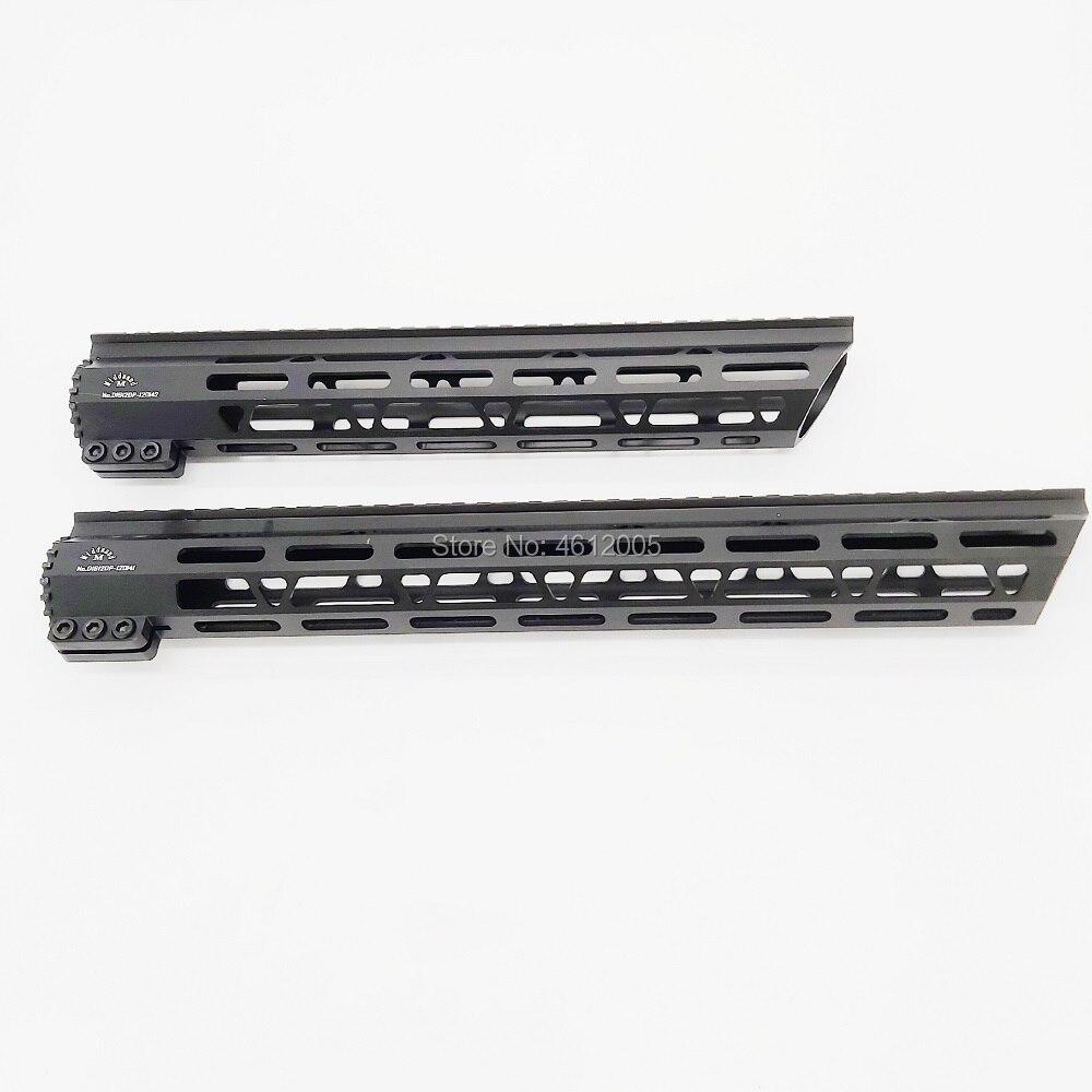 12 15 polegada Picatinny Rails Um Trilho handguard free Float mlok 15 ar Quad Rail Handguard para AEG M4 M16 AR15 para Fotografar a Caça