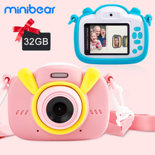 Minibear Children Camera For Kids Digital Camera For Children Toys Camera With 1080P HD Video Camera For Girl Boy Christmas Gift