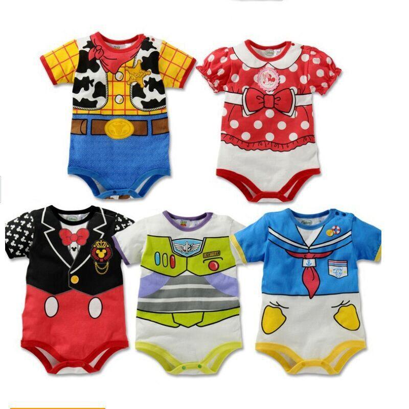 New Newborn Baby Boy Clothes Summer Style Cute Cartoon Short Sleeve Unisex New Born Baby Boy Girl Romper Roupas De Bebe Clothing
