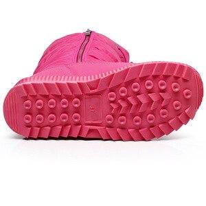 Image 2 - Женские зимние ботинки на платформе, зимние ботинки на толстом плюше, водонепроницаемые Нескользящие ботинки, модная женская зимняя обувь, теплые меховые сапоги для женщин
