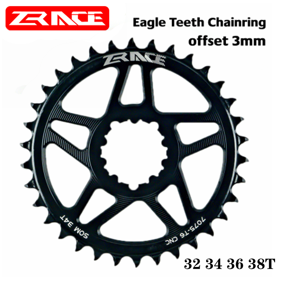 ZRACE 10s 11s 12s Chainrings Eagle tooth 7075AL CNC offset 3mm MTB Chainwheels for SRAM Direct Mountain Crank compatible Eagle image