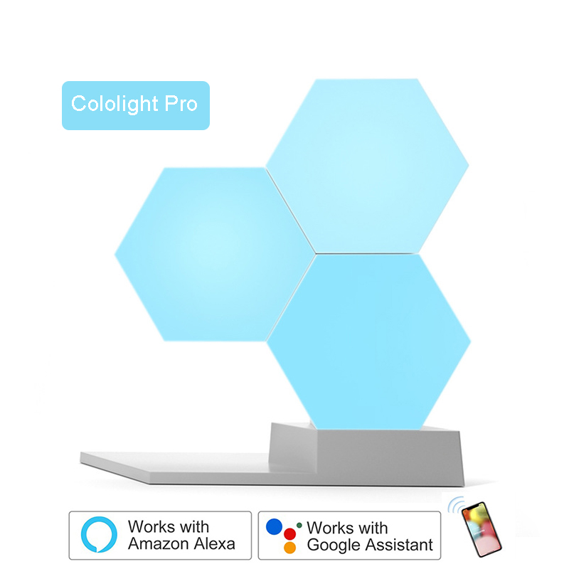 LifeSmart LED Quantum Light Smart Geometry Assembling DIY Lamp WiFi Work with Google Assistant Alexa Cololight APP Smart Control