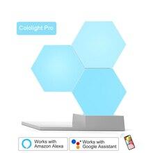 Lifesmart led luz quântica inteligente geometria montagem diy lâmpada wi fi trabalho com google assistente alexa cololit app controle inteligente