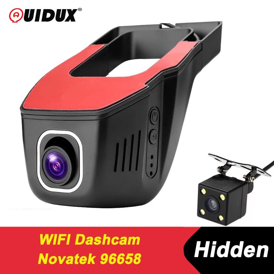 QUIDUX Новатэк 96658 Wifi Видеорегистраторы для автомобилей Видео Регистраторы Full HD 1080 p Беспроводной приложение манипуляции IMX 322 Скрытая регистра...