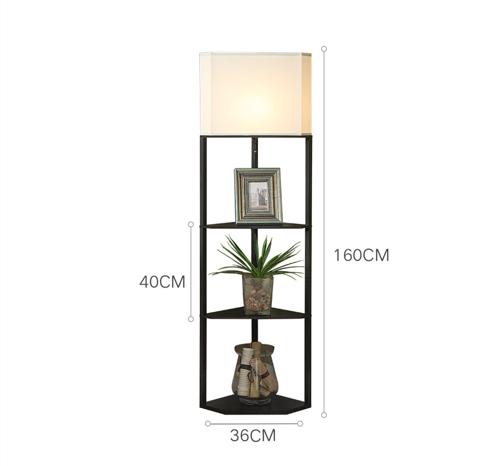Corner Shelf Dimmer Floor Lamp