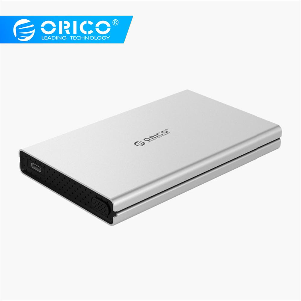 ORICO 2.5inch SATA To Type-C Aluminum Alloy Hard Drive Enclosure For Mac For Linux For Windows USB3.0 3.1