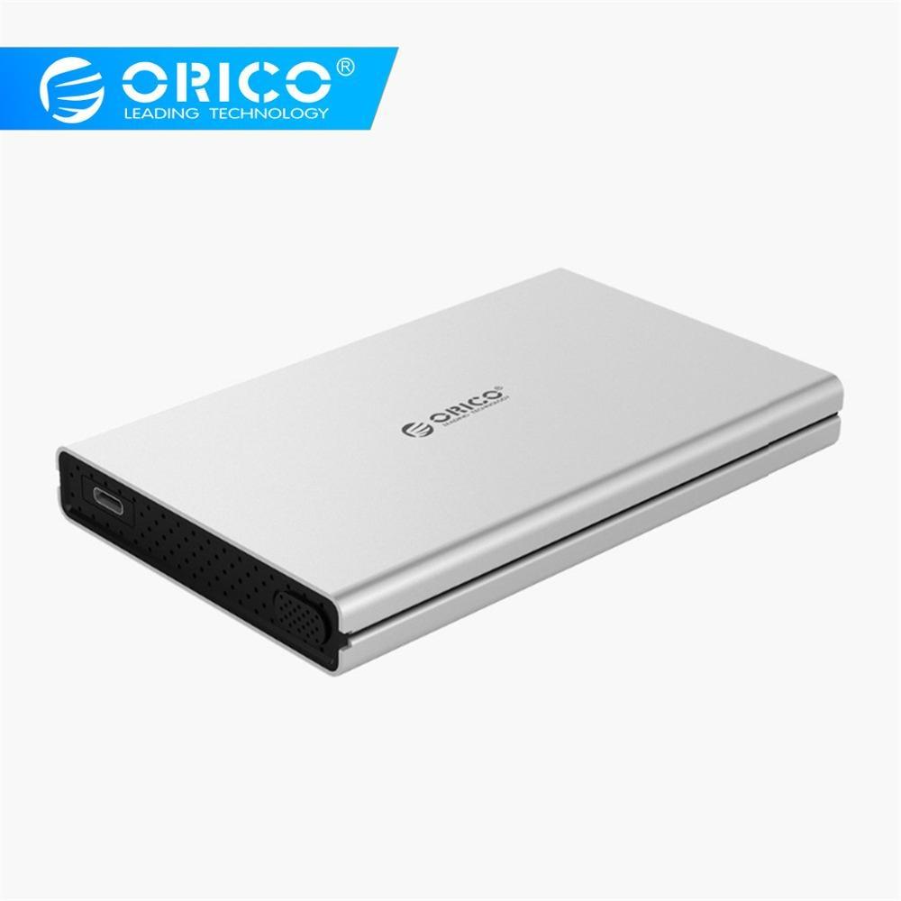 aluminum alloy ORICO 2.5inch SATA to Type-C Aluminum Alloy Hard Drive Enclosure for Mac for Linux for Windows USB3.0 3.1 (1)