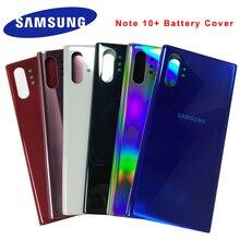 Samsung Galaxy หมายเหตุ 10 Plus 10 + แก้วกรณีฝาหลังแบตเตอรี่ด้านหลังเปลี่ยนฝาครอบสำหรับ Samsung note10 PLUS