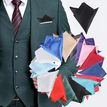 15 Colors High Grade Men Pocket Suit Square Hanky Handkerchief Plain Solid Wedding Formal Party Apparel Accessories High Quality(China)
