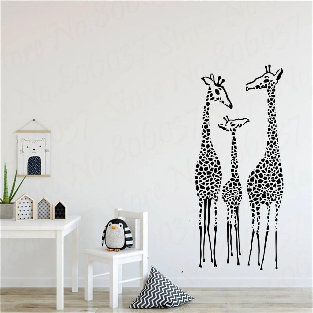 Home Decor Jungle Wall decal Baby Room Giraffe Wall Decal Boys Room Wall Decal Nursery Wall Decal Safari Wall Decal