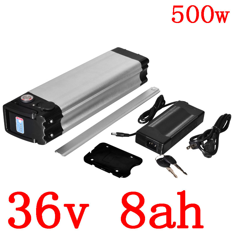 36V 500W battery 36v 8ah electric bike battery 36V 8AH 9AH 10AH 11AH Lithium battery fit bafang/8fun 36V 250W 350W 500W motor image