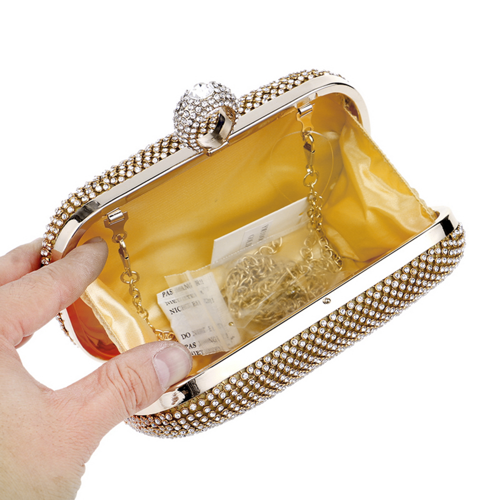 Evening Clutch Bags Diamond Studded Evening Bag with Chain Shoulder Bag Women 39 s Handbags Wallets Evening Bag for Wedding in Top Handle Bags from Luggage amp Bags