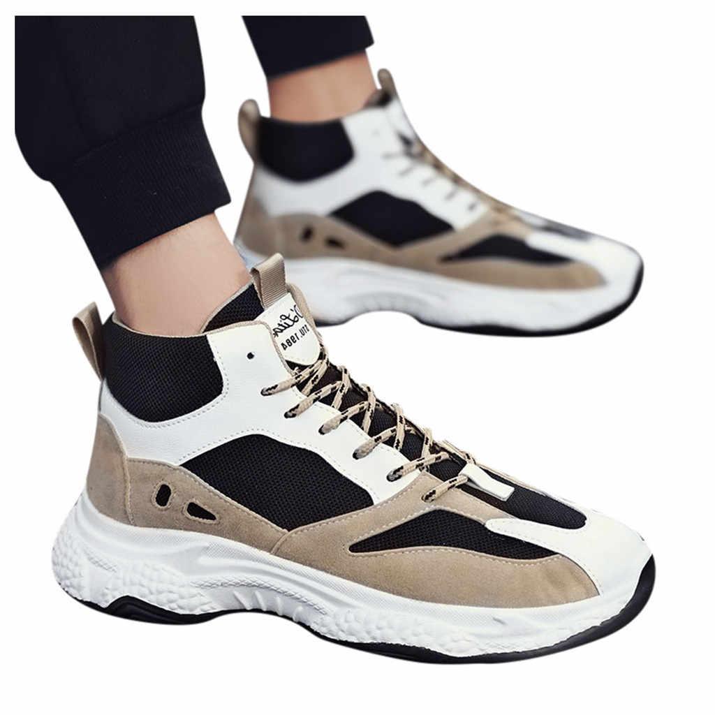 Nuevos zapatos casuales SAGACE cuatro estaciones transpirable catwalk zapatos viejos zapatos de malla zapatos deportivos retro zapatos de marea alta hombres casual