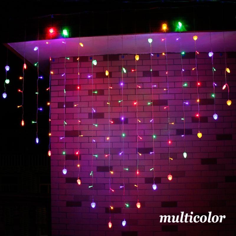 Занавес в форме сердца, светильник 2 м x 1,5 м, светодиодный светильник 128 со штепсельной вилкой, романтичный занавес, светильник s для спальни, ...