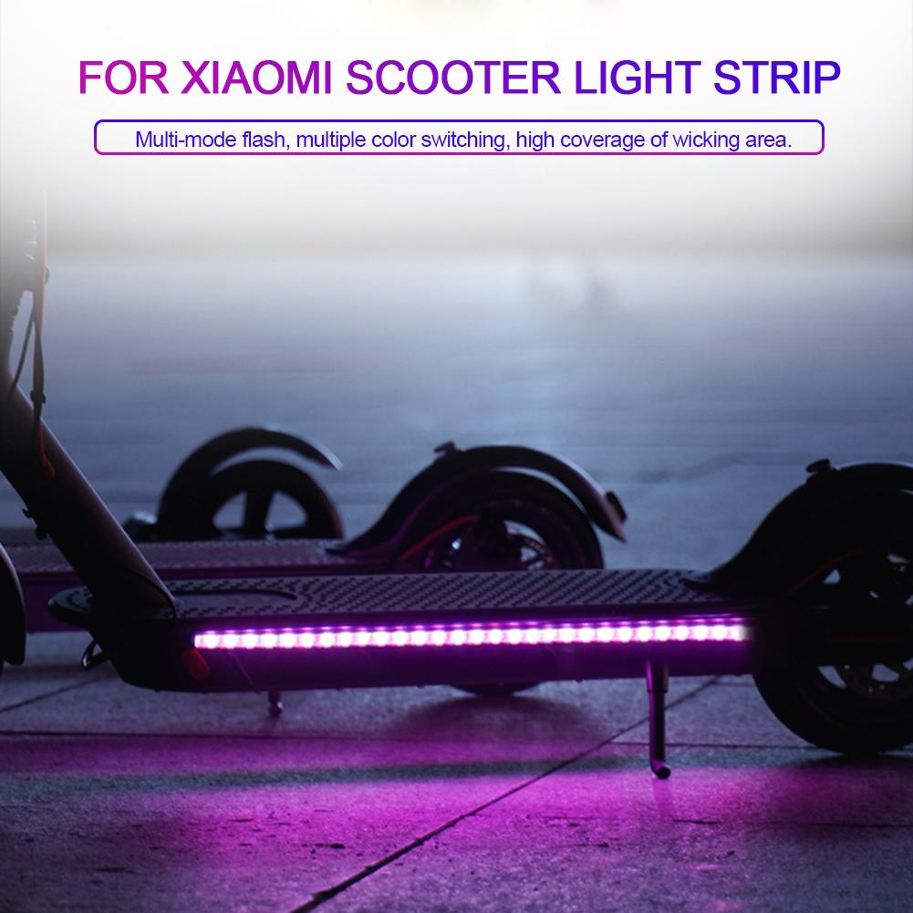 Foldable LED Strip Flashlight Bar Lamp For Xiaomi M365 Electric Scooter Skateboard Night Cycling Safety Decorative Light