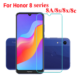 Original Glass For huawei honor 8s 8a pro 8c 8x 8 10i Screen Protector Protective Glass on honor 8s 8a 2020 9c 9a 9s Safety film(China)