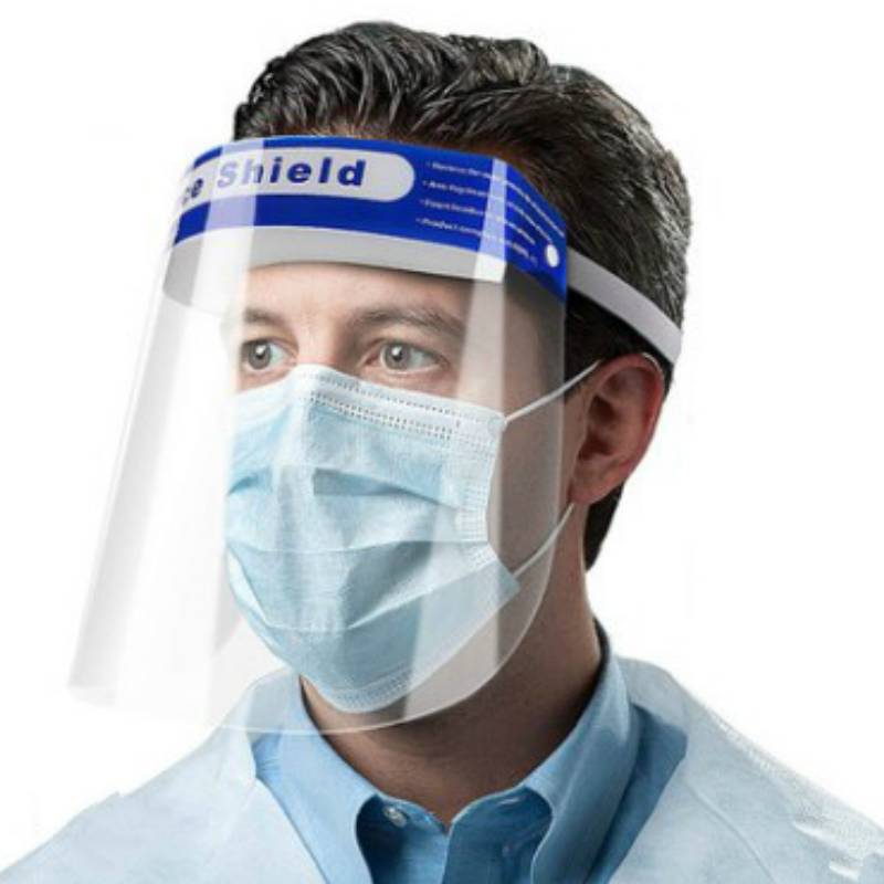 2pcs Visor Protection Mask Anti-spitting Isolation Protector Facial Transparent Dust-proof Anti-fog Visor Protection From Splash