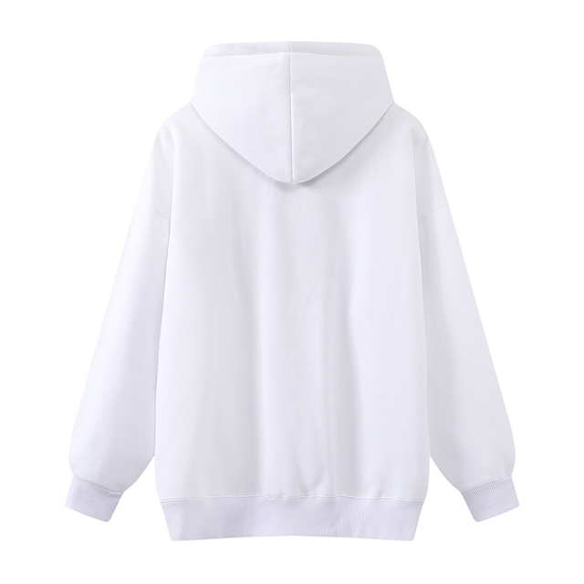 Oversize Girls Waterfall Embroidery Sweatshirts 2021 Spring-Autumn Fashion Ladies Soft Thick Pullovers Loose Women Chic Clothes 6