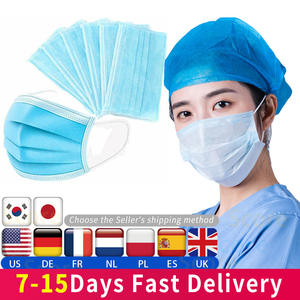 10pcs/50Pcs Mask Disposable Non wove 3 Layer Ply Filter Mask mouth Face mask Breathable Earloops Masks