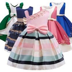 Baby Girl Princess Stripe Dress Girl Party Princess Dress Child Christmas Dress Abito da sposa Child Girl Dress Costume