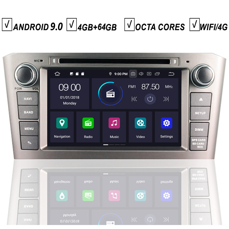 Car Android 9 0 Dvd Gps Player For Toyota Avensis T25 2003