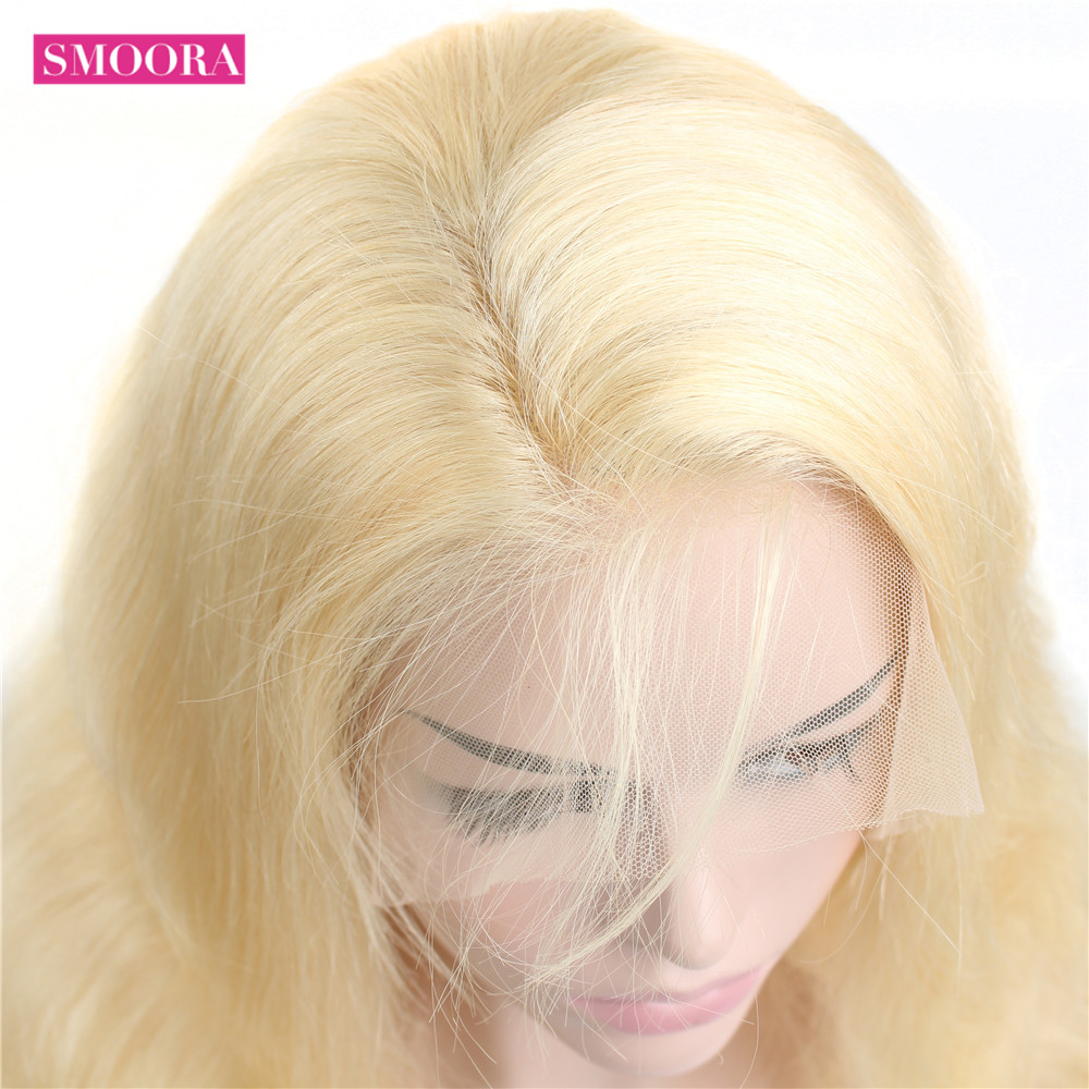 13x4 Lace Front Wig 613 Honey Blonde 30inch Lace Frontal  Hair Body Wave   Wig Baby Hair Transparent 6