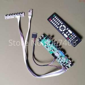 Ajuste N156O6-L01/l02/l03/l04 tela 40 pinos lvds av vga usb dvb 3663 tv digital atualização 1600*900 lcd placa de controlador kit diy