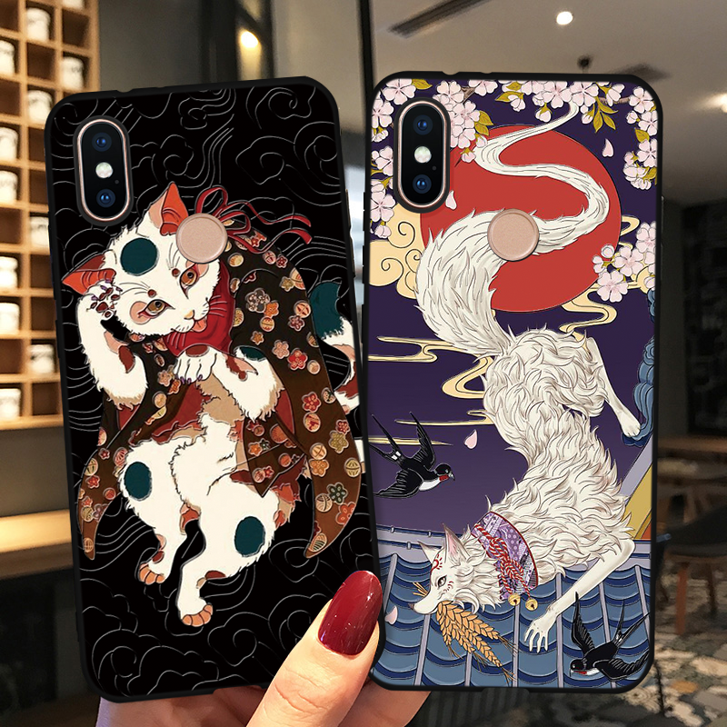 Japanese Anime 3D Embossed Cover For <font><b>Xiaomi</b></font> <font><b>Mi</b></font> 9T Pro CC9 CC9e 9 SE 8 A2 Lite <font><b>A1</b></font> Pocophone F1 For Redmi 6 Pro 6A 5 Plus 5A <font><b>Cases</b></font> image