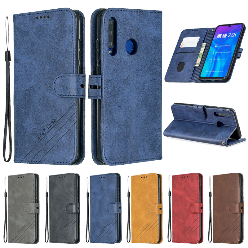 Huawei Honor 10i Case Leather Flip Case On For Coque Huawei Honor 10i 20i 10 Lite 9X 20 Pro 8A Case Cover Magnetic Wallet Cover