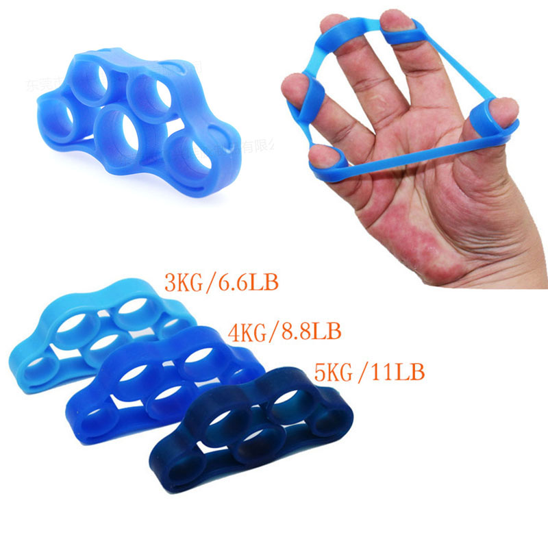 Multi Colors Silicone Finger Gripper Resistance Bands Hand Grip Wrist Stretcher Finger Expander Exercise Strength Trainer