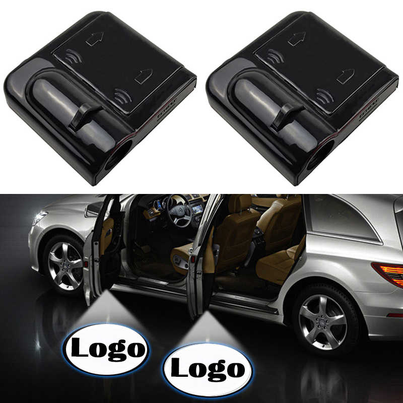 1PCS Led del Portello di Automobile Proiettore Laser Benvenuti Logo Luce Dell'ombra del Fantasma Wireless Car Styling Porta Auto di Cortesia Lampada Auto accessori