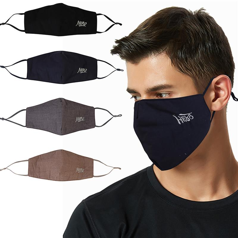 4pcs/set Breathable Dustproof Mouth Masks Creative Cotton Embroider Warm Face Mouth Mask Soft Half Face Cover For Outdoor