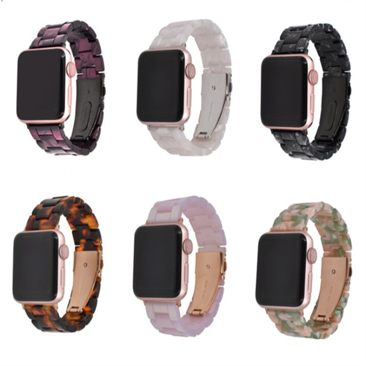 Suitable For APPLE Watch Smart Watch 4 Generation Universal Apple New Style Resin Amber San Zhu Watch Strap