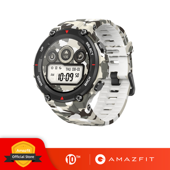 New 2020 CES Amazfit T-rex T rex Smartwatch Rugged Body Smart Watch GPS/GLONASS 20 Days Battery for Xiaomi iOS Android