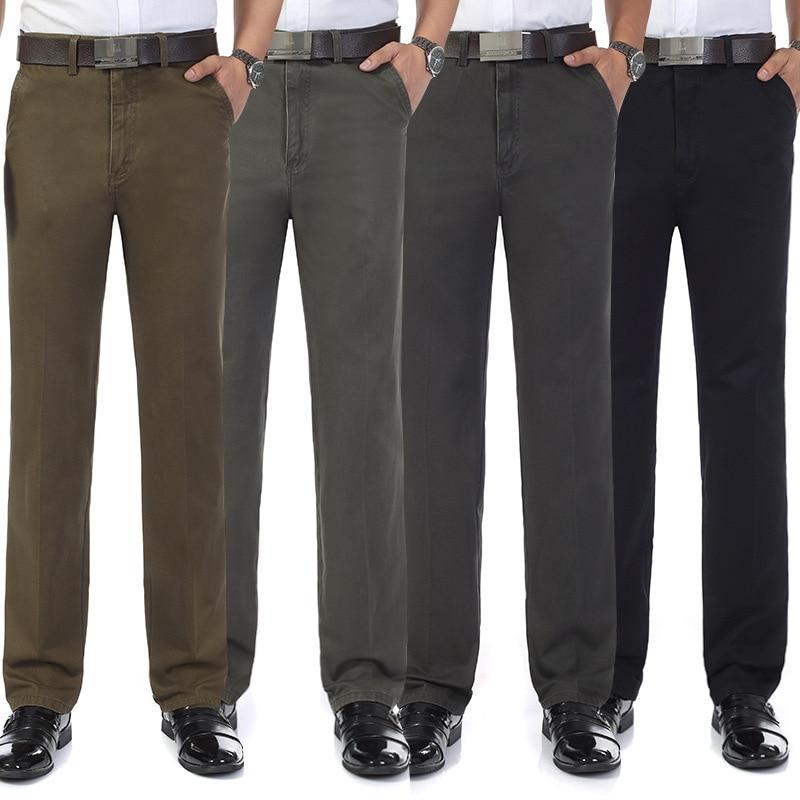 Large Size Casual Pants Middle-aged MEN'S Suit Pants Daddy Clothes Pants Men's Loose-Fit Middle-aged Autumn Clothing Men's Trous