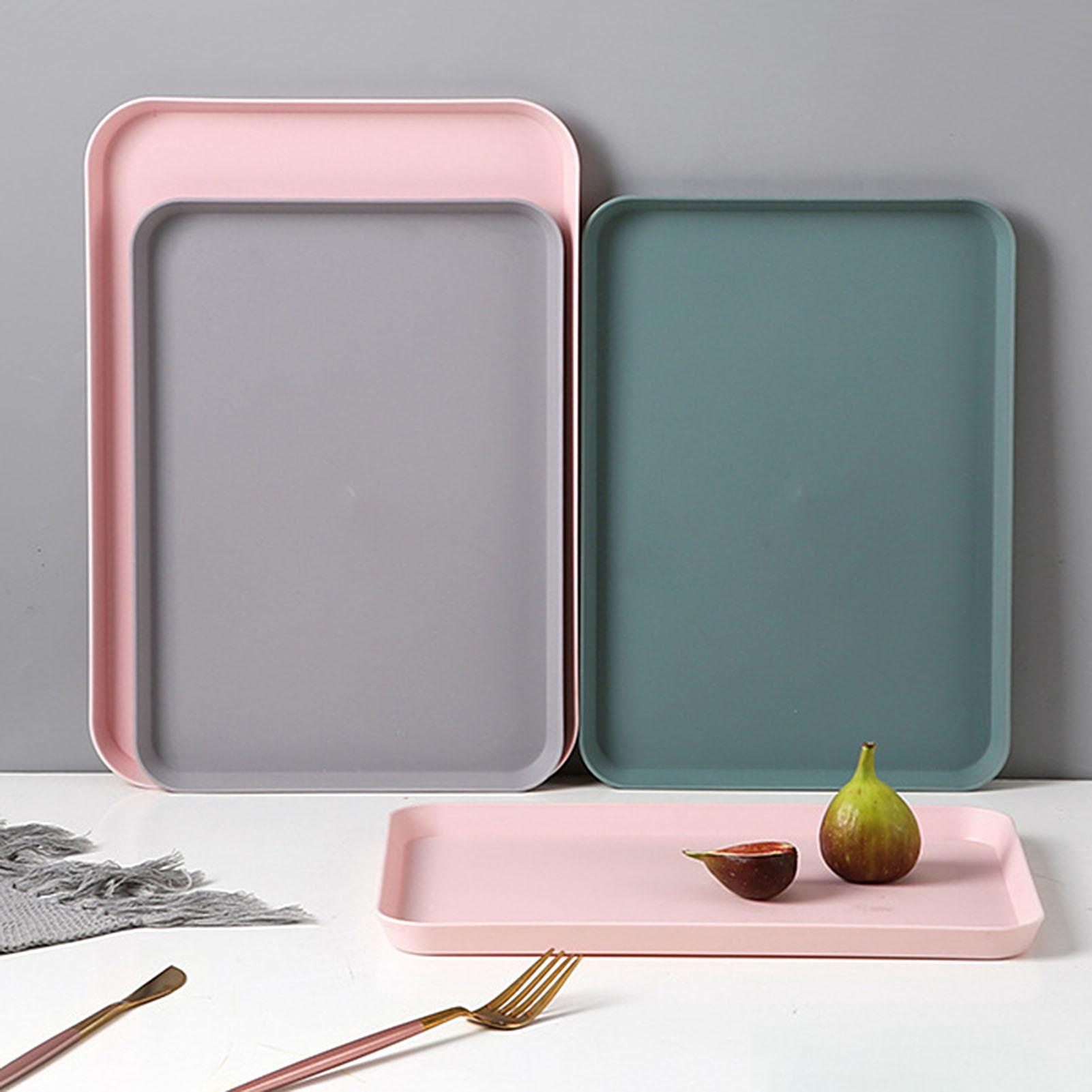 Plastic Tray Kitchen-Supplies Fruit Rectangular Multi-Nordic Creative Home