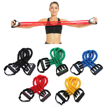 3 Tubes Chest Expander Elastic Rubber Rope Fitness Gym Exercise Home Workout Non-slip Resistance Bands Pull Rope Unisex 1