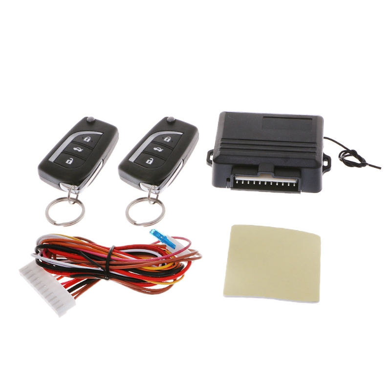 Universal Car Central Door Lock Keyless Entry System Remote Central Locking Kits Automobiles Burglar Alarm Car Accessories