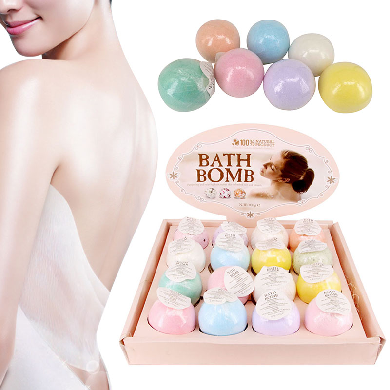 1pcs Moisturizing Bubble Bath Bomb Ball Essential Oil Handmade SPA Stress Relief Exfoliating Bath Salt Bathing Accessorie Random