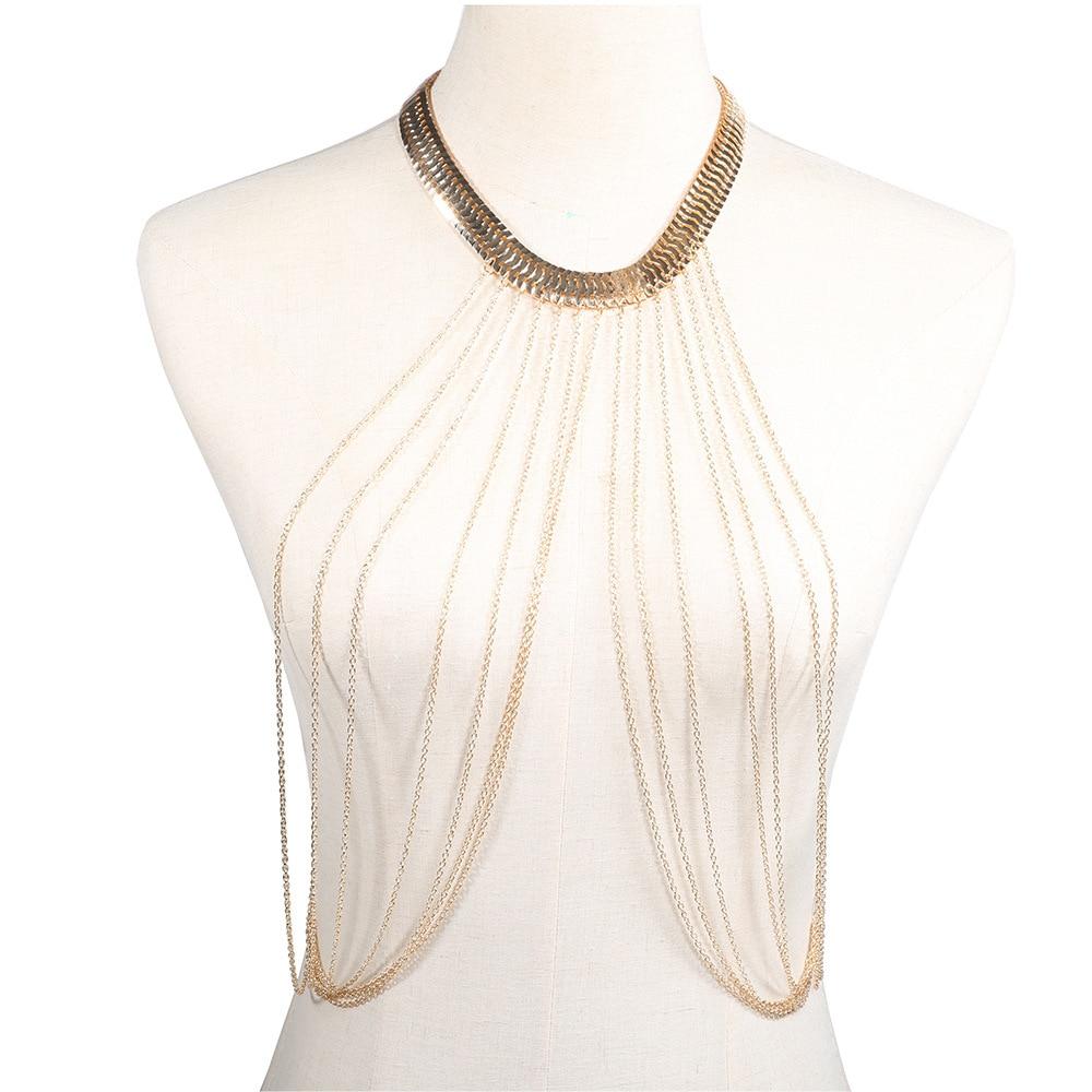 1 Pc Sexy Tassled Body Chain Beach Beach Bikini Long Necklace Charm Decorating Accessories Gift