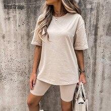 Summer Women Short Sleeve Shorts Loungewear Solid O-Neck Elastic Waist Home Wear Elegant Female Pullover Top Pyjama Dropshipping