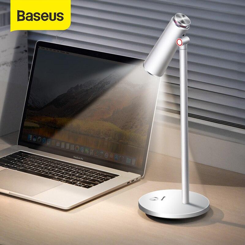 Baseus ich-wok Tisch Lampe LED Schreibtisch Nacht Lampe Augenschutz Studie Lesen Licht USB Aufladbare Desktop Büro Arbeiten tisch Lampe