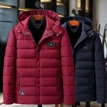 플러스 사이즈 9xl 4xl 두꺼운 패딩 파카 남성 겨울 자켓 새로운 패션 후드 코트 멀티 포켓 따뜻한 아우터 남성 캐주얼 의류