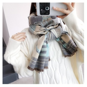 Image 4 - 2019 Fashion Pashmina Scarf for Women Animal Print Winter Cashmere Scarfs Female 185*65cm Shawls and Wraps Neck Scarves For Lady