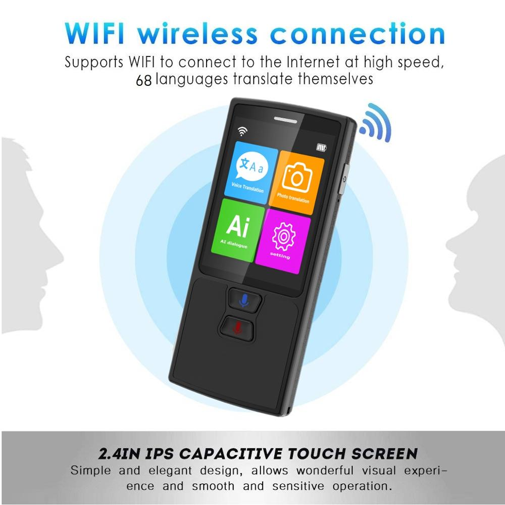 76 Languages Pocket Voice Translator for Travel translator with HD Touch Screen including WIFI and Hotspot Networking Methods 9