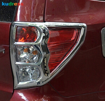 For Subaru Forester 2009 2010 2011 2012 ABS Chrome Rear Tail Light Lamp Cover Trim Frame Backup Light Protector Auto Accessories