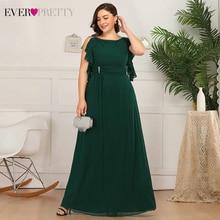 Платья для матери невесты размера плюс, платья Ever Pretty EP07891, трапециевидные платья с оборками и круглым вырезом для гостей на свадьбе, платья Marraine